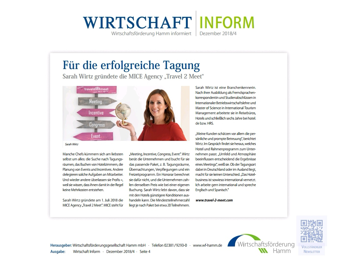 Travel 2 Meet Wirtschaft Inform